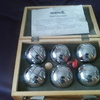 B O U L E - SPIEL aus 6 Silberne - Metallkugeln