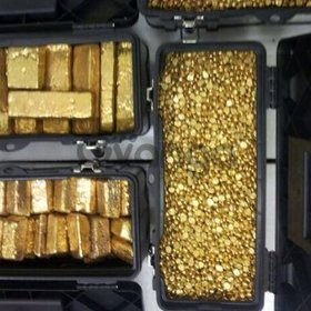 Gold Bars and Gold Nuggets For Sale.
