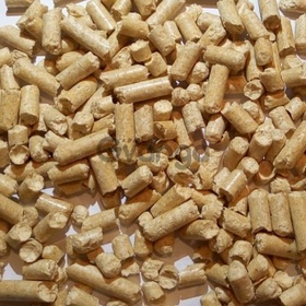 Sell pellets with coniferous trees
