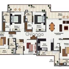 Large space 5 bhk apartments for sale in green lotus saksham