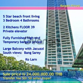 Reflection Jomtien Beach 218 Sqm Penthouse Sale