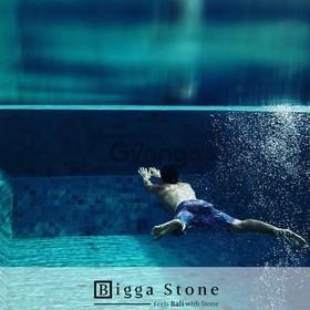 Bali Green Sukabumi Stone Tiles-The Swimming PoolTiles India