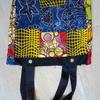 African batik bag