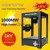 SuperCarver 1000mW Miniature Laser Engraving Machine Box Machine Household DIY Mini USB Printer Educational Toy Black