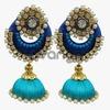 Light Blue Silk Thread Jewellery Earring