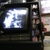 32 INCH PANASONIC BOX TELEVISION WITH VHS PLAYER AND AM FM RADIO