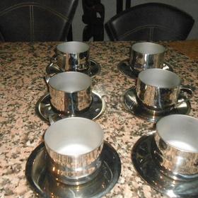 6 tazas medianas para cafe rena ware nuevas