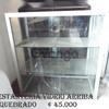 Estantería de Aluminio con vidrio   usado