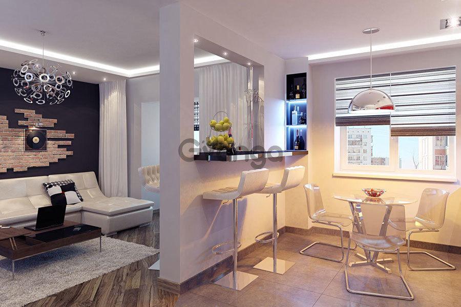 Квартира студия 39 кв.м дизайн