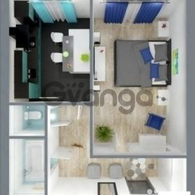 Продается квартира 1-ком 44 м² 4