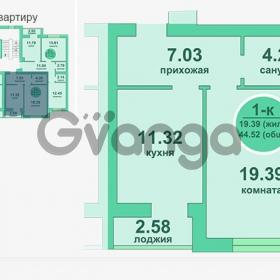 Продается квартира 1-ком 44 м² Потемкина