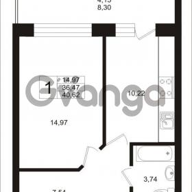 Продается квартира 1-ком 41 м² Калининградский проспект