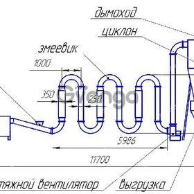 Сушилка аэродинамическая для опилок, древесины, щепы СА-600 - от Производителя