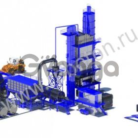 Стационарный асфальтобетонный завод серии LB 800 (CP - 80)