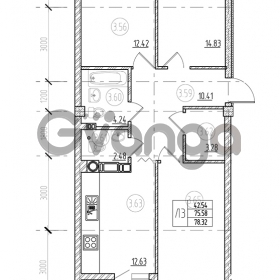 Продается квартира 3-ком 80 м² А. Невского 249