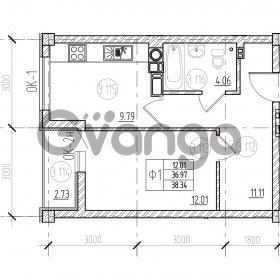 Продается квартира 1-ком 39 м² А. Невского 249