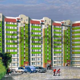 Двухсторонняя квартира, дом из красного кирпича