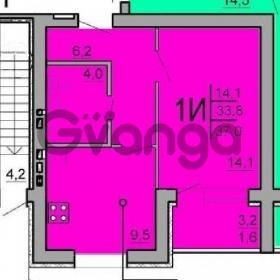 Продается квартира 1-ком 37 м² солнечная ул.,25