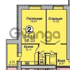 Продается квартира 2-ком 58 м² 65-летия победы ул.,9