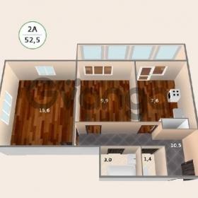 Продается квартира 2-ком 52 м² антонова ул.,4