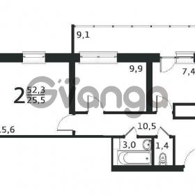Продается квартира 2-ком 52 м² антонова ул.,3 стр