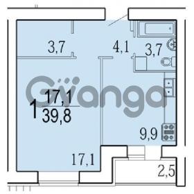 Продается квартира 1-ком 39 м² лозицкой ул.,1