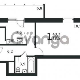 Продается квартира 1-ком 39 м² антонова ул.,5