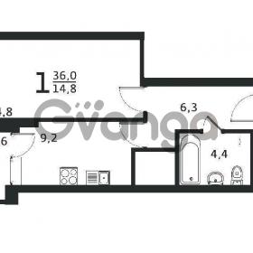 Продается квартира 1-ком 35 м² антонова ул.,4