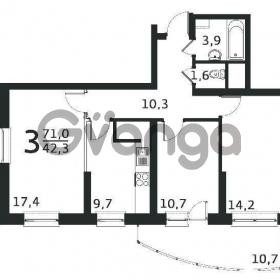 Продается квартира 3-ком 71 м² антонова ул.,3