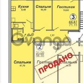 Продается квартира 3-ком 71 м² 65-летия победы ул.,1