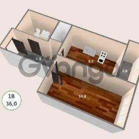 Продается квартира 1-ком 38 м² антонова ул.,4
