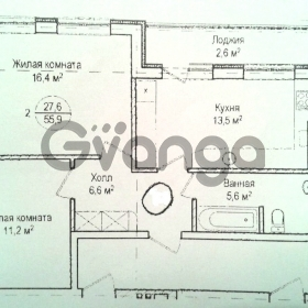 Продается квартира 2-ком 56 м² Комсомольская