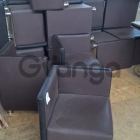 Пуф кресло кожзам коричневый б/у для ресторана кафе кофейни бара офиса дома дачи.