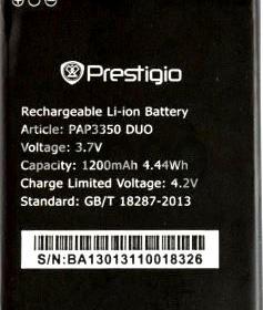 Prestigio 3350 (PAP3350DUO) 1200mAh Li-ion