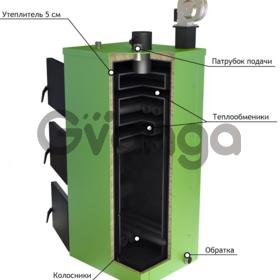 Твердотопливный котел верхнего горения КТВГ Обрій 13 кВт