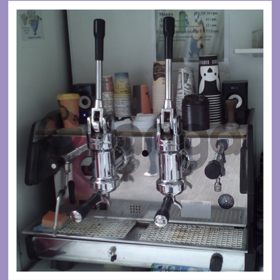 Газовая, левенрная двухпостовая кофемашина. La Pavoni Bar T 2L