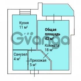 Продается квартира 1-ком 42 м² ул. Черкасская, 38