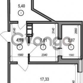 Продается квартира 1-ком 35 м² Межевая ул., д. 23б