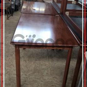 Стол деревянный массив коричневый лакированный б/у