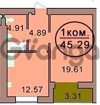 Продается квартира 1-ком 45 м² Красная, 145
