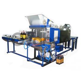 Оборудование для групповой упаковки стеклянных банок в защитную термоусадочную пленку