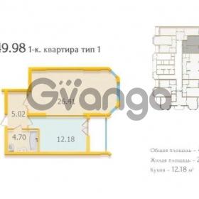 Продается квартира 1-ком 50 м² Коновальца Евгения ул., д. 34