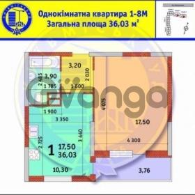 Продается квартира 1-ком 36 м² Замковецкая ул.