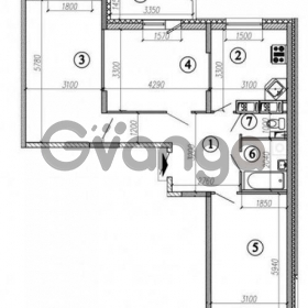 Сдается в аренду квартира 3-ком 80 м² Космонавтов,д.6