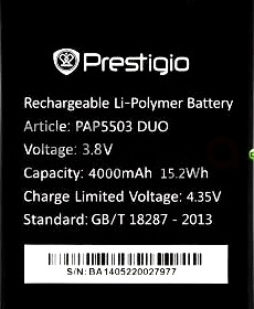 Prestigio 5503 (PAP5503DUO) 4000mAh Li-polymer