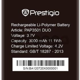 Prestigio 3501 (PAP3501DUO) 3000mAh Li-polymer