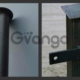 Столбы железные готовые к установке ограждений