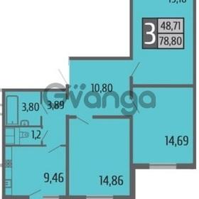 Продается квартира 3-ком 79 м² Коломенская ул, 12к1, метро Авиамоторная