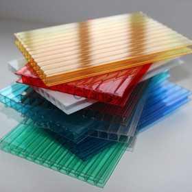 Поликарбонат сотовый прозрачный и цветной, толщины: 3,5 мм, 4 мм, 6 мм, 8 мм, 10 мм, 16 мм, 20 мм, 25 мм