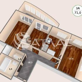 Продается квартира 3-ком 70.4 м² антонова ул.,5